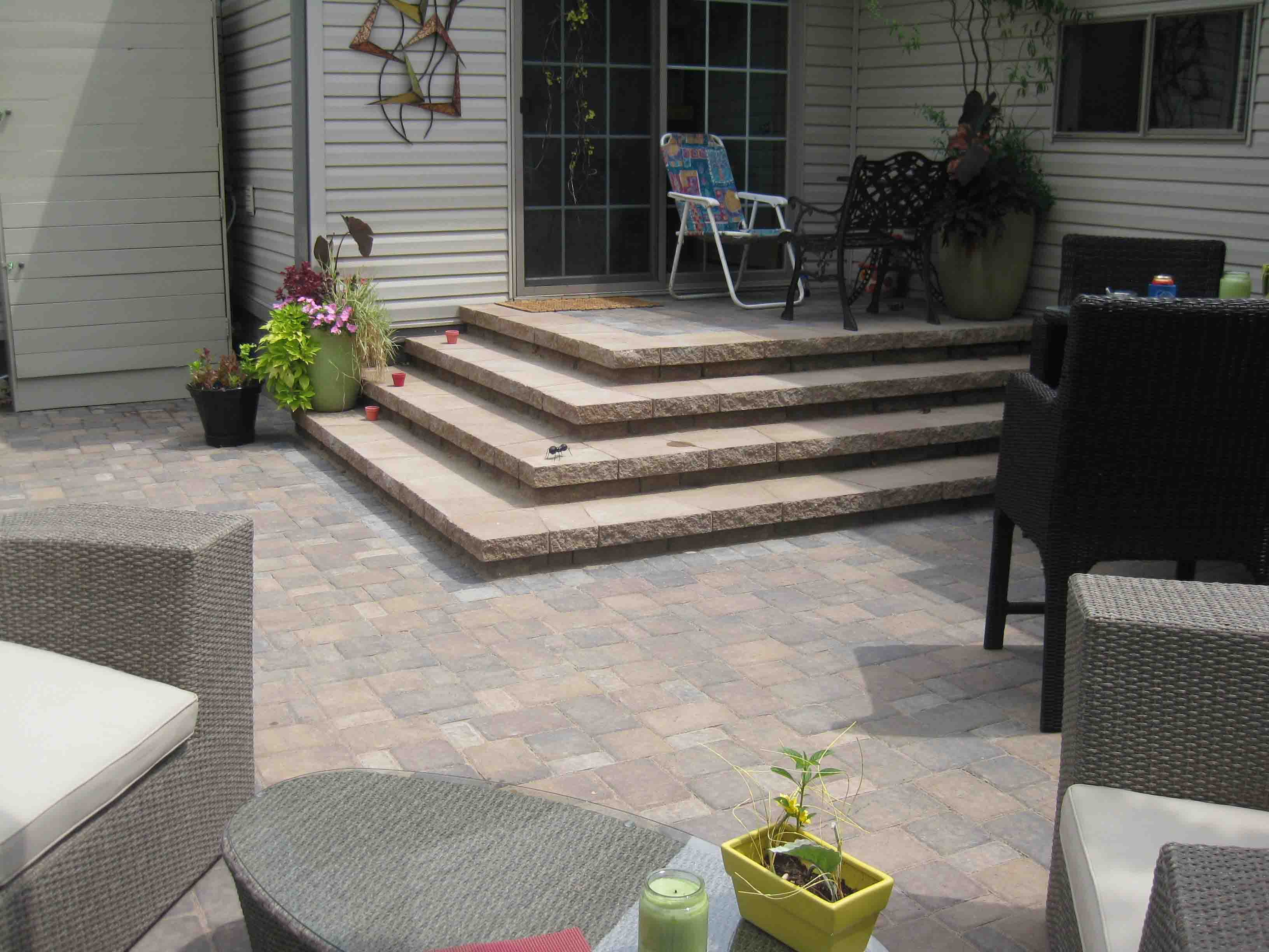 pavers ideas for combination landscaping pin from made aggregate concrete backyard are of design patio and a decorative rocks